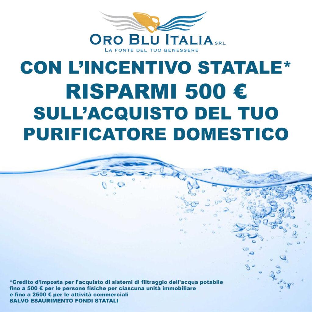 oro blu italia bonus acqua potabile